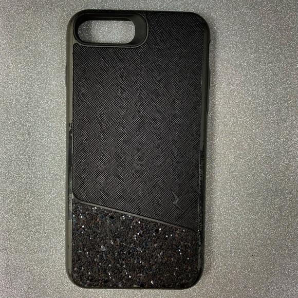 Black Glitter magnetic case iPhone 7 Plus